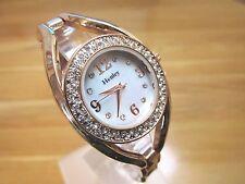 Totalmente NUEVO Reloj de Señoras HENLEY Madre De Perla De Oro Rosa Dial Diamante Piedras