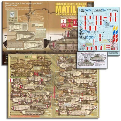 Echelon 1//35 #ALT352011 Matildas in North Africa Malta /& Crete