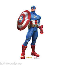 CAPTAIN AMERICA MARVEL CONTEST OF CHAMPIONS LIFESIZE STANDUP STANDEE CUTOUT PROP