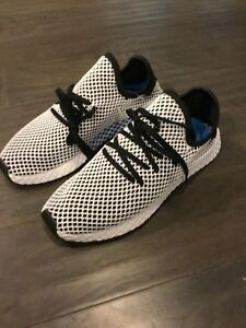 8a06ba7de Adidas Originals Deerupt Runner Men s Mesh White Black(CQ2626) Size ...