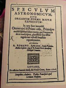 Seicentina-SPECULUM-ASTRONOMICUM-Lovano-1606