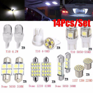 14Pcs-LED-Light-Interior-Package-Map-Dome-License-Plate-Indicator-Bulb-Lamp-Kit