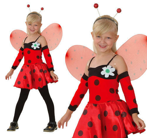 Enfant ladybird fancy dress costume coccinelle kids childs costume s