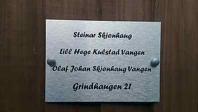 Norwegian Postbox Door Plaque Personalised Family Names House Name.