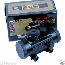Tactical 1X30 Green / Red Dot Sight 5 MOA Reticle Scope w/ 20mm Rail Mount #01