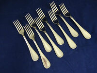 8 Sheffield Stainless Steel Forks With Design On Edge 7 1/8