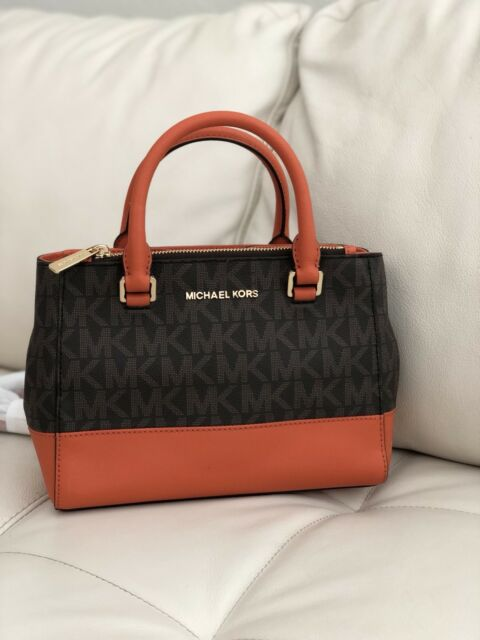 a7e5933a4ef8 Michael Kors Kellen XS Satchel Vanilla MK Signature Acorn Crossbody Bag