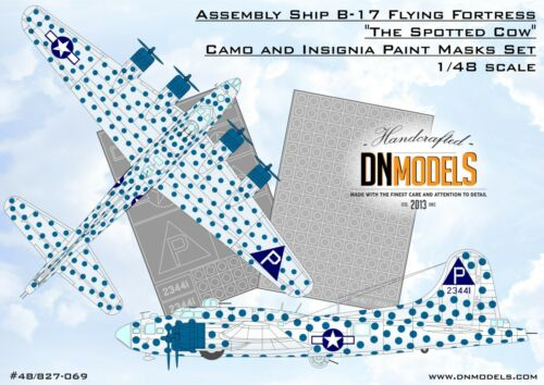 DN Models Mask Set for B-17 1//48 Flying Fortress The Spotted Cow Assembly Ship