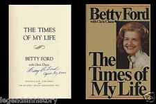 BETTY FORD Autographed Signed Book US President Gerald Ford First Lady Clinic