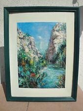 """Peinture Provence """"Gorges du Verdon"""""""