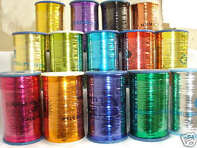 10 Different Colours 10 Spools of LUREX High Quality Thread 3000 meters each