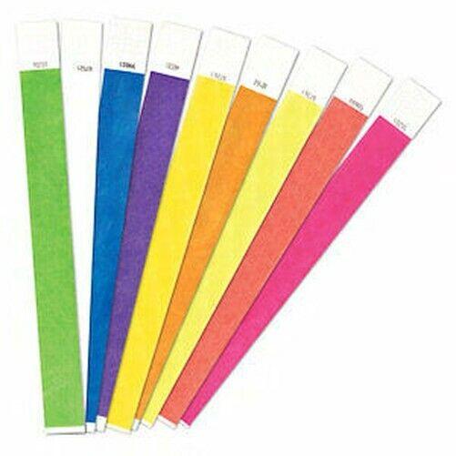 5,000 1.9cm Tyvek Armbänder für Events,Papier Armbänder,(Wählen Sie Ihr Farben)