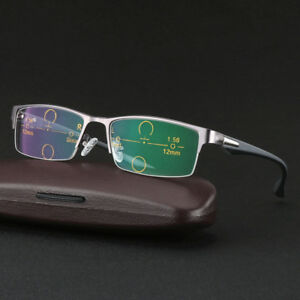 0db945b7a0 Image is loading Photochromic-Multi-Focus-Sunglasses-Progressive-Transition- Reading-Glasses