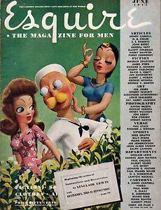 1945 Esquire June - Sinclair Lewis; Joe Jones Art; Virginia Mayo; Jazz; Fishing