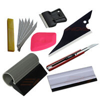 Car Window Wrapping Tint Vinyl Installing Tool Squeegee, Scraper, Film Cutter Us