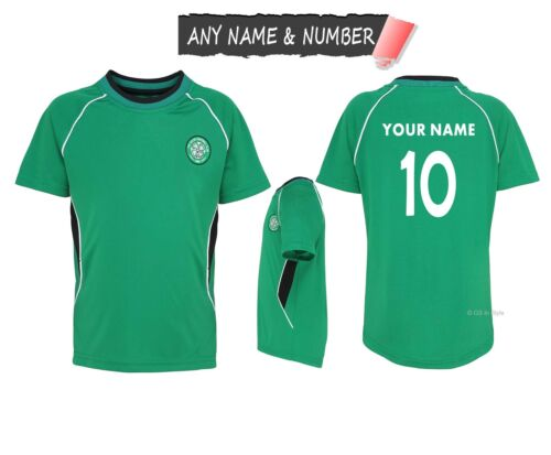 PERSONALISED KIDS CELTIC FC 100/% OFFICIAL FOOTBALL T SHIRT GENUINE TOP ANY NAME