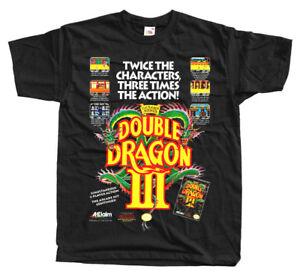 Double Dragon Iii Nes Poster T Shirt Black Green Navy Arcade