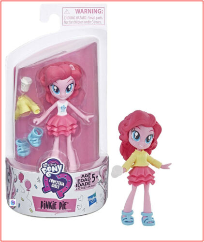 "My Little Pony Equestria Girls FASHION Squad Mini PINKIE PIE Doll /& Clothes 3/"" T"