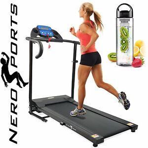 Treadmill folding running machine motorised electric fitness new by nero sport ebay - Tapis de course occasion ebay ...