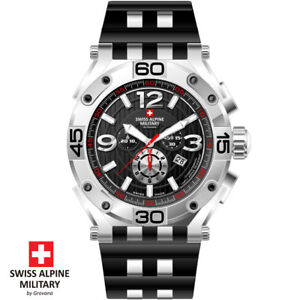 Swiss-Alpine-Military-by-Grovana-7032-9837-Chrono-Armband-Uhr-Herren-NEU
