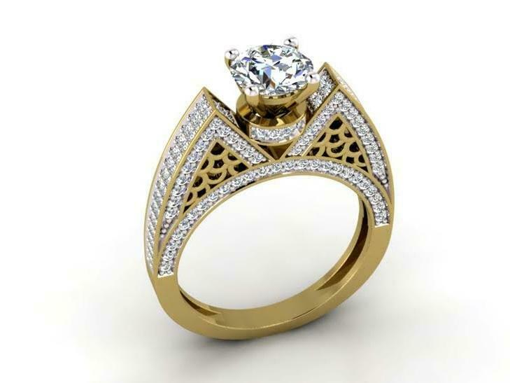 I1 G 2.30 Ct Round Cut Diamond Solitaire Ring Wedding 14K Solid gold Appraisal