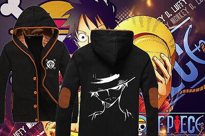 Japanese Anime One Piece Monkey D Luffy Casual Clothing Sweatshirt Hoodie Coat
