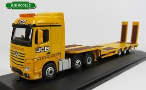 BNIB-OO-GAUGE-OXFORD-1-76-76MB010-MERCEDES-ACTROS-SEMI-LOW-LOADER-JCB-LORRY