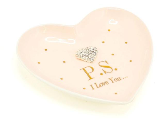 Jewellery Dish Mad Dots 'PS I Love You' nice new room girle