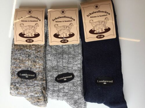 3 Pairs Men/'s Thick Chunky Wool Work Hiking Boot Socks Size UK 6-11   NMKFMD