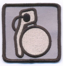 "Grenade patch - 2.5""x2.5"" with Hook & Loop backing- airsoft paintball gtav"