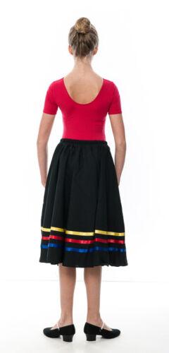 Girls Yellow Red Blue Ribbon RAD Character Skirt Dance Ballet All Sizes By Katz