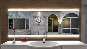 Miroir lumineux LED salle de bain ?Lattes?, LED illuminé,éclairage ...