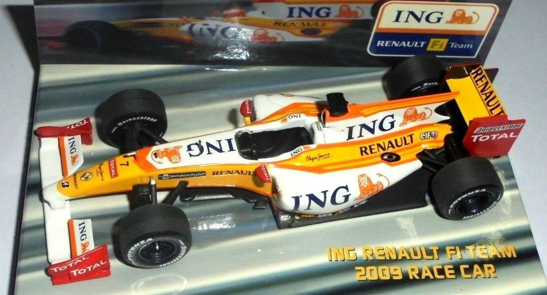 Car 1 43 MINICHAMPS    ING RENAULT R29 RACE CAR 2009 ALONSO NEW BOX 55fbbe