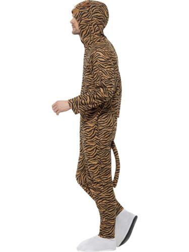 Adulto Disfraz De Mono Tigre Zoo Unisex Cat Book día de Semana Fancy Dress M L