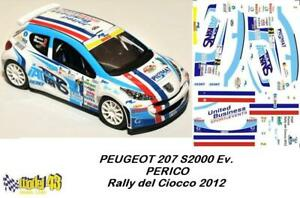 Rally SANREMO  2012 HUNT DECAL  1//43 PEUGEOT 207 S2000