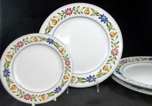 Image is loading Studio-Nova-FRUIT-BUFFET-3-Dinner-Plates-Salad- & Studio Nova FRUIT BUFFET 3 Dinner Plates + Salad Plate AT707 used ...