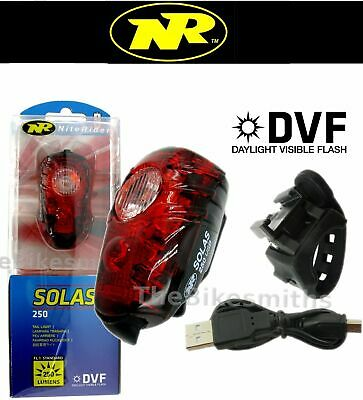 Niterider Solas 250 Lumens Red Tail Light USB Rechargeable Daylight Visible Bike