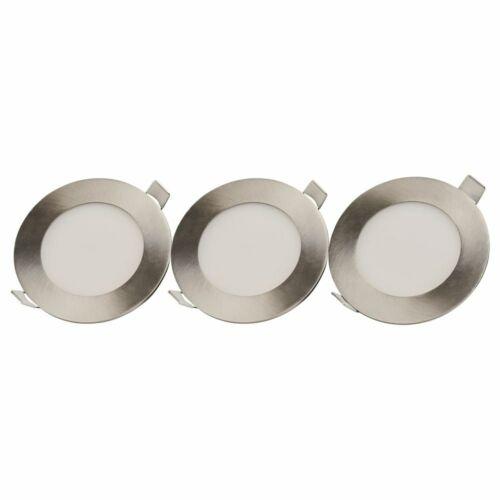 famlights LED Einbaustrahler Sebastian aus Aluminium in Nickel 120 mm 3er Set