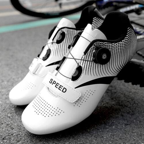 Professional Road Cycling Shoes Men Self-Locking Bike Bicycle Racing Sneaker Gym