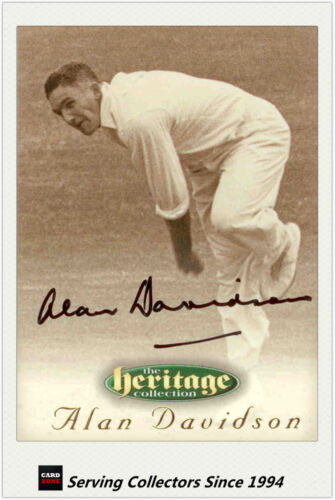 1996 Futera Cricket Heritage Signature Card Player Edition #24 Alan Davidson