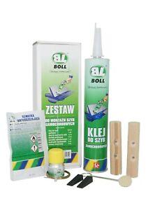 NEU-Scheibenkleber-Set-BOLL-Kleber-Frontscheibe-Windschutz-Reperatur-KLEBERSET