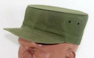 Rare-WWII-US-Army-Geo-J-Mann-Stand-Up-Military-Cap-Size-7