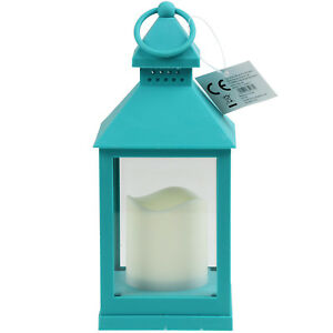 Image Is Loading Led Lantern Lamp Blue Outdoor Garden Patio Porch