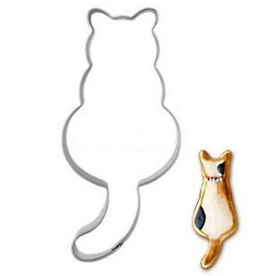 Stainless Steel Cookie Cutter Cat shadow Cake Biscuts Cutter Fondant DIY Mold ✿