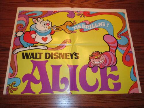 1981 Walt Disney ALICE IN WONDERLAND Re-Release One-Sheet Movie Poster VF-
