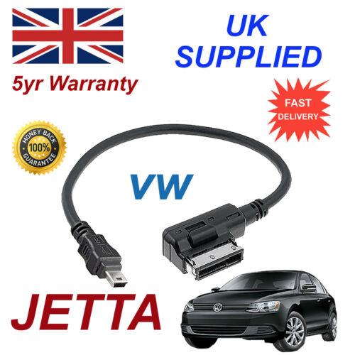 Original Vw Jetta AMI MMI 000051446a Mp3 Ipod teléfono Cable Mini Usb De Repuesto