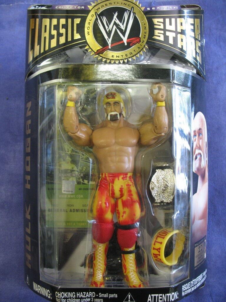 WWE JAKKS Pacific  classic superstars Hulk Hogan avec ceinture 2006 nouveau IN BOX  Découvrez le moins cher