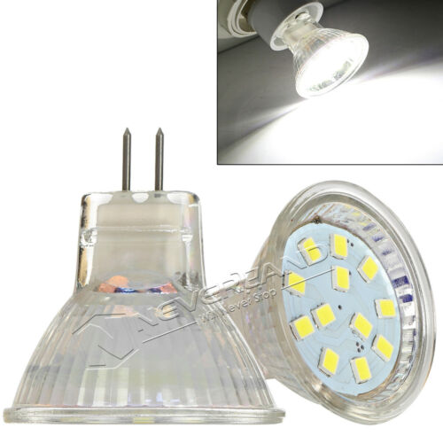 1//4//10Pcs MR11 GU4 3W//5W 12//18SMD 2835 LED Light Bulb Spotlight Cool//Warm White