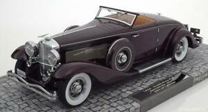 Duesenberg Sjn Convertible Coupe 1936 Minichamps Rouge Foncé 107150331 1/18 180 Pcs