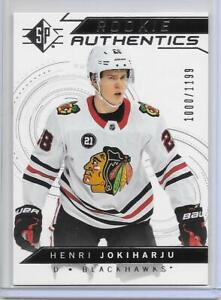 HENRI-JOKIHARJU-2018-19-UD-SP-ROOKIE-AUTH-SILVER-INSERT-RC-FINLAND-GOLD-SABRES